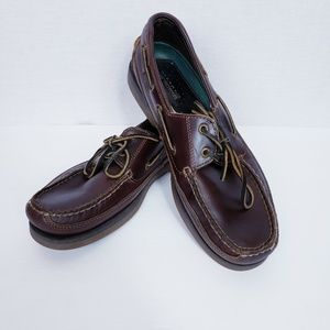 Sperry size 10.5 Mens Dark Brown Leather Top Sider